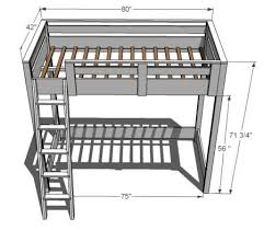 twin bed loft plans plans diy free download small workshop bench