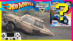 Monster Jam Video Game Mud Challenge With Hot Wheels Monster Truck ...