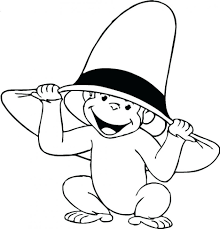 Coloring Pages Curious George Birthday Colouring To Print Halloween Clip Art Kids