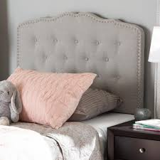 Leggett And Platt Upholstered Headboards by Baxton Studio Lucy Greyish Beige Fabric Upholstered Twin Size