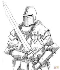 Knight Coloring Page Knights Pages Free To Download