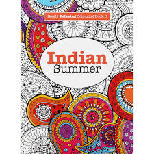Indian Summer Adult Colouring Book From Target