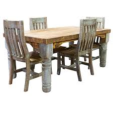 Rustic Dining Chairs Dallas Designer Furniture Turquoise Washed Room Set