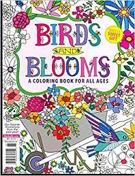 Birds Blooms Coloring Book 2017 Various Amazon Books