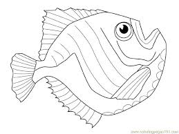 Slippery Fish Coloring Pages Free Dead