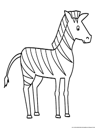 Free Template Zebra Coloring To Print Out Large Size