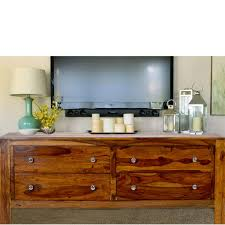 Buy Oiled Teak Small TV Stand With Slatted Front Online TeakLab