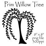Willow Tree Clipart Prim Primitive Coloring Pages Free Printable