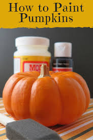 Fake Carvable Plastic Pumpkins by How To Paint Pumpkins The Right Way Painting Pumpkins