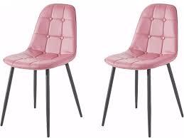 4er set stuhl lucia aus kunstleder in rosa loft24 de