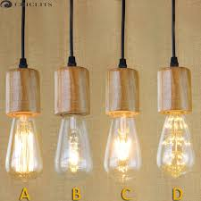 oule e27 vintage edison filament led light bulb st64 40w 220v