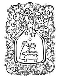 Christmas Coloring Pages Nativity Free Printable