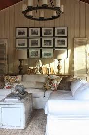 Living Room Furniture Vintage Style Light Brown Entertainment