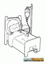 Boy In Bed Sick Coloring