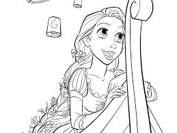 Tangled Coloring Pages Pdf Rapunzel Games Download Full Size