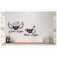küche guter kaffee böser kaffee tasse comic esszimmer aufkleber dekor wandtattoo wandaufkleber der dekor aufkleber shop