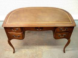 Sligh Lowry Desk Leather Top by French Fruitwood Style Lady U0027s Desk With Tooled Leather Top And 1 2