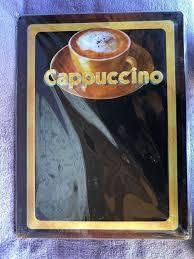 cappuccino notiz tafel menu deko küche kaufen auf ricardo