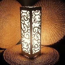 Decorative Table Lamp Vintage Wood Plastic Rustic Style Brief Modern Lampshade Living Room Bedroom 110