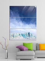 acrylglasbilder 3 teilig 100x120cm gletscher spitzbergen norwegen acrylbild acrylglas acrylbilder wand bild 14e254 wandtattoos und leinwandbilder