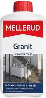 mellerud granit reiniger pflege reinigungsmittel zum entfernen hartnäckigen verschmutzungen auf granit oder specksteinoberflächen 1 x 1 l