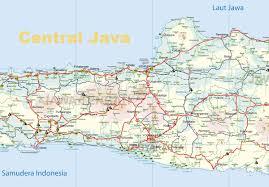 Yogyakarta Java Island Map