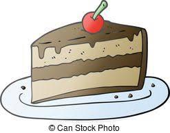 cartoon slice of cake freehand drawn cartoon slice of cake