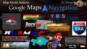 100 Google Truck Maps Navigation Normal Night Version Map Mods Addons V30