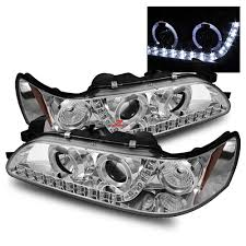 93 97 toyota corolla led halo projector headlights r8 style