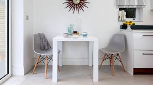 Dining Table For Two 2 Seater White Gloss And Eames Chairs