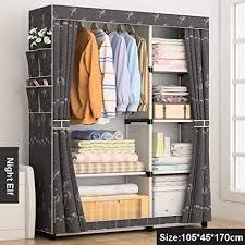 wfqyg diy einfache vorhang tragbaren kleiderschrank