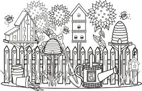 Coloring Pages Of Gardens Pleasant View Some Attractive 17