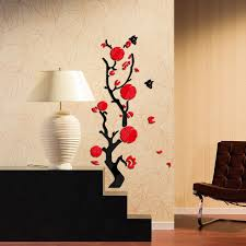 Hot Sale 2017 Wall Stickers Acrylic Mirror Diy Sticker Home Decoration 3d Living Room Modern Beautiful Flowers Design In From