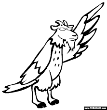 Goat Hawk Coloring Page
