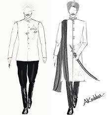 Harbhajan Singh Wedding Dress Sketch