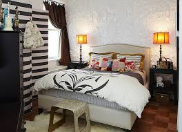 Inspirations Small Apartment Bedroom Decorating Rental Fancy Design With Black And White