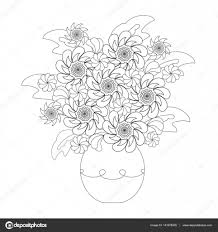 Coloriage Adulte Fleurs Dans Une Vase Dessin Gratuit Imprimer