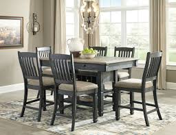 The Tyler Creek Black Gray Rectangular Dining Room Counter Table