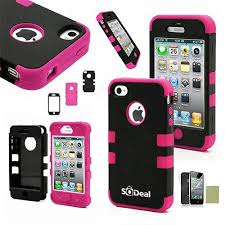 Amazon iPhone 4s Case iPhone 4 Case SQDeal 3in1 Rubber