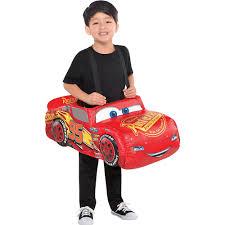100 Monster Truck Halloween Costume Boys Lightning McQueen RideOn Cars 3 Party City