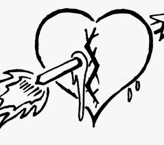 Broken Heart Coloring Pages