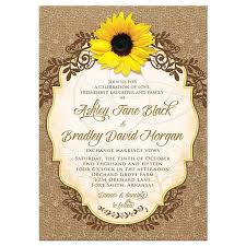 Sunflower Wedding Invitations Uk