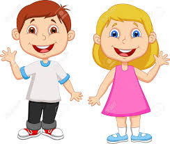 Little Girl clipart two person 8