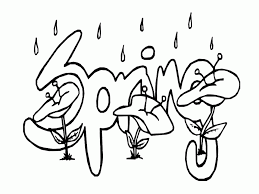 Spring Day Coloring Pages Flower Printouts Kids