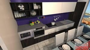 cuisine equiper pas cher cuisine équipée moderne pas cher galerie et cuisine violette et