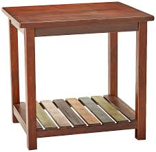 Amazon.com: Mestler Rustic Chairside End Table Brown With Multi ... Ashley Fniture Breegin Chair Side End Table In Brown Shop New Signature Design By Hatsuko Chairside By Oak Finished Laflorn With Power Centair Mestler Colorful Rafferty Dark On Sale At Wcc T127699 19900 Best Carlyle Royard Rustic Hindell Park