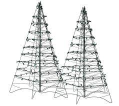 Qvc Pre Lit Christmas Trees by S 2 Pre Lit Led 3 U0027 Fold Flat Outdoor Christmas Trees By Lori