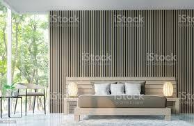 moderne schlafzimmer dekorieren wände mit hölzernen gitter 3d render bild stockfoto und mehr bilder architektur