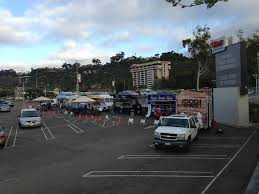 Mall Brings In Food Trucks To Lure Shoppers - The San Diego Union ... Food Trucks Roll Onto Campus Coyote Chronicle Santa Monica Attempts A Truck Lot Again Eater La Hungry Head Over To Thursdays At Innovations Academy 8 Gourmet Foods To Buy Now Visiting The Broad Traveler And Tourist Venice Beach Trail Grazin Just Standing In A Parking Lot Eating Korean Bbq Tacos San Diego Where Is Cat July 2010 Co Las Trend The Unemployed Eater 2010s Top 10 Foodstuffs Under