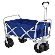 3 5 cu ft 21 in W Steel Folding Wagon in Blue FBW3621B The